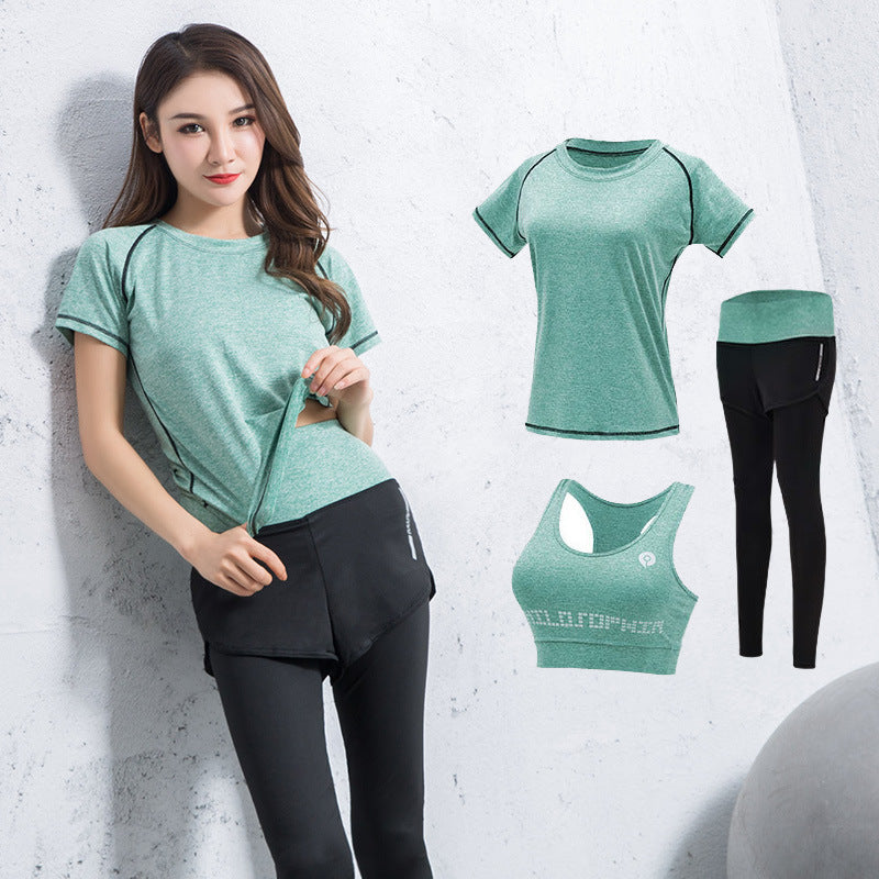 FITNESS WOMEN GYM GREEN YOGA SUITS - GLENDA