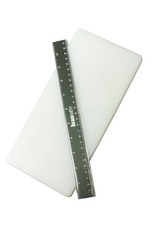 Poly Piercing and Cutting Board with Ruler