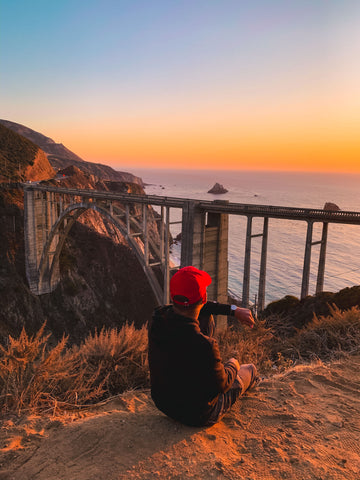 guy watching the sunset