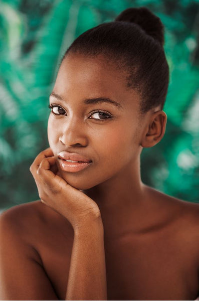 Stunning African american woman portrait