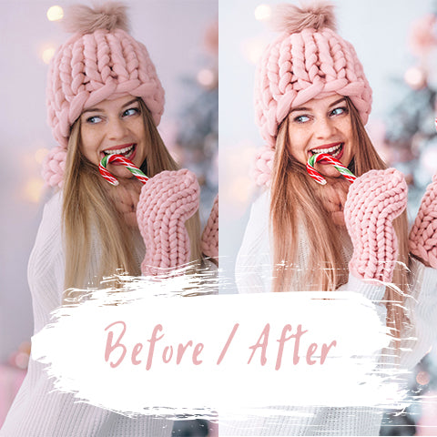 before after winter photoshoot image