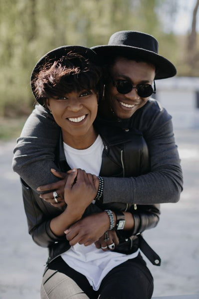 Stylish African American couple