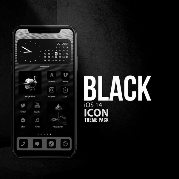 BLACK iOS 14 ICONS