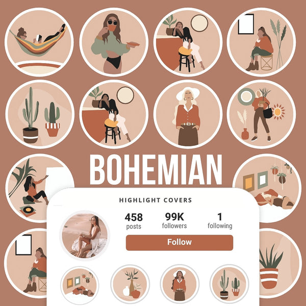 BOHEMIAN IG HIGHLIGHT COVERS
