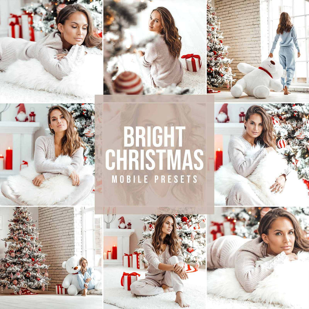 BRIGHT CHRISTMAS MOBILE LIGHTROOM PRESETS