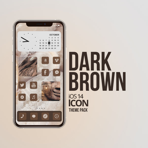 """DARK BROWN"" iOS 14 TEMOS"