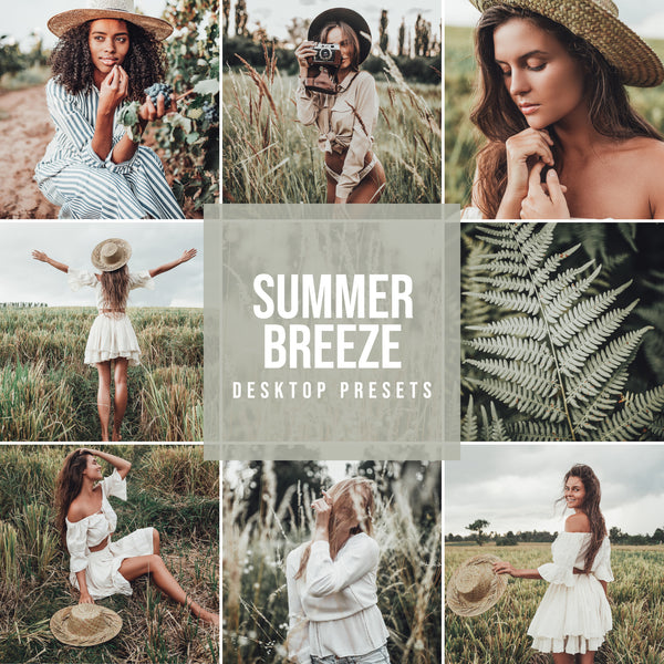 SUMMER BREEZE DESKTOP LIGHTROOM PRESETS