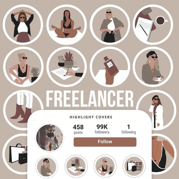 FREELANCER IG HIGHLIGHT COVERS