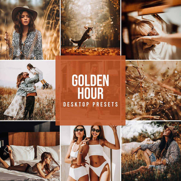 GOLDEN HOUR DESKTOP LIGHTROOM PRESETS
