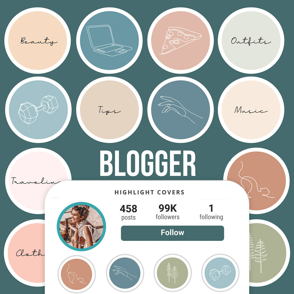 BLOGGER IG HIGHLIGHT COVERS