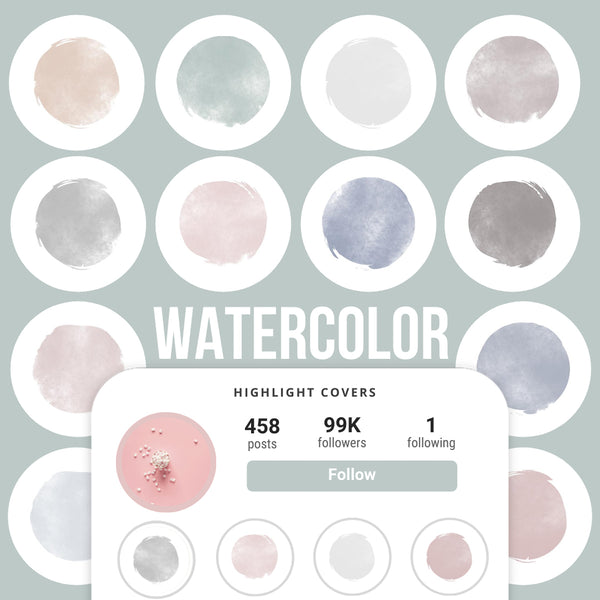 WATERCOLOR IG HIGHLIGHT COVERS