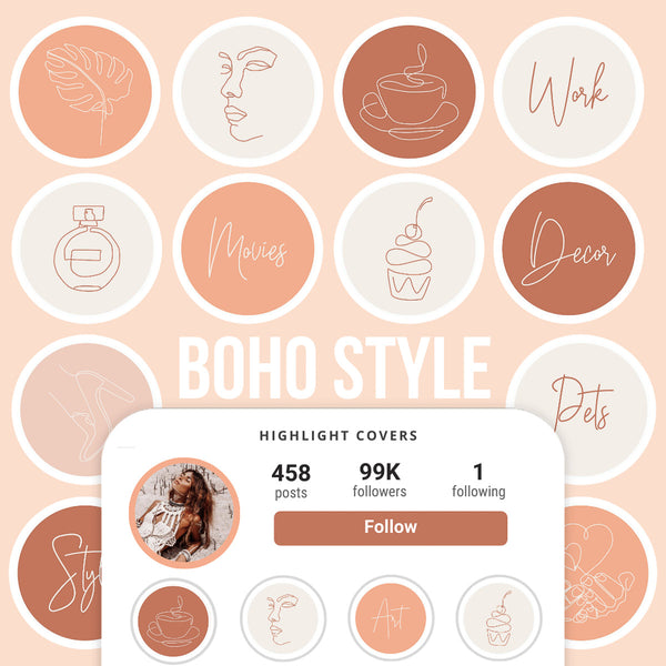 BOHO IG HIGHLIGHT COVERS