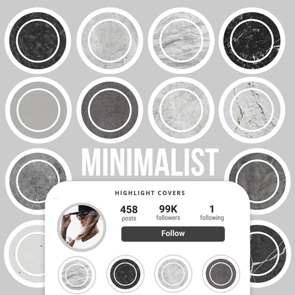 MINIMALIST IG HIGHLIGHT COVERS