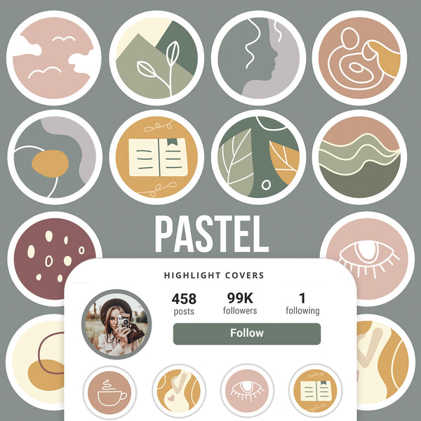 PASTEL IG HIGHLIGHT COVERS