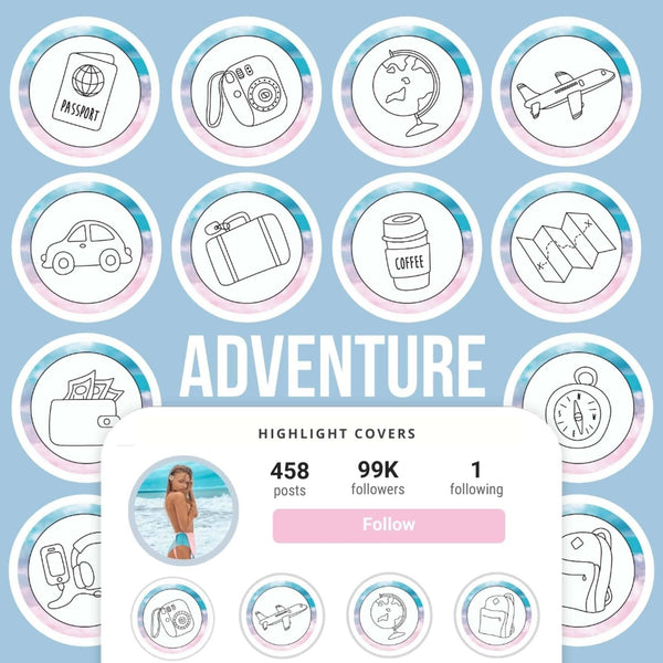 ADVENTURE IG HIGHLIGHT COVERS