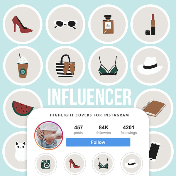 INFLUENCER STYLE IG HIGHLIGHT COVERS