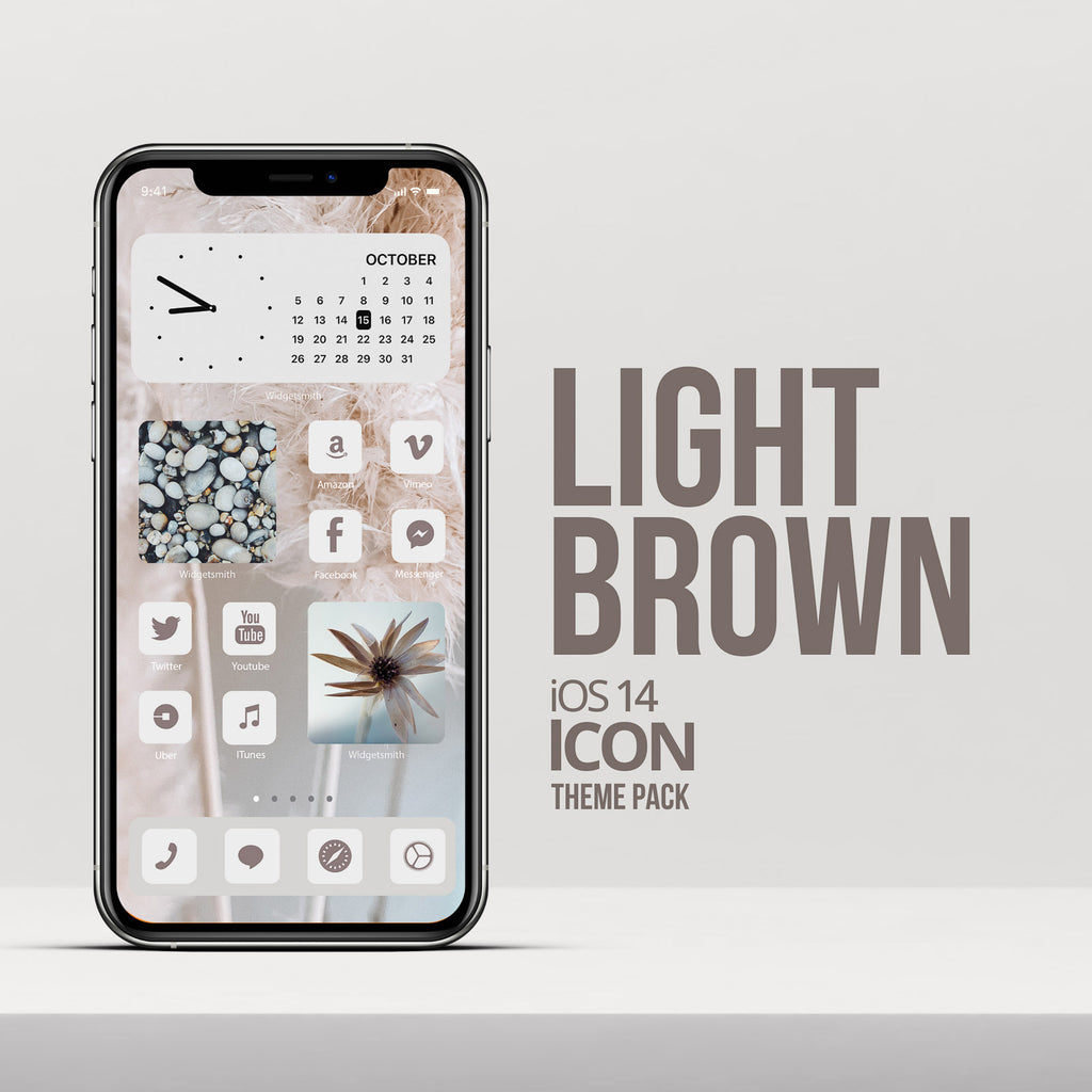 LIGHT BROWN iOS 14 ICONS