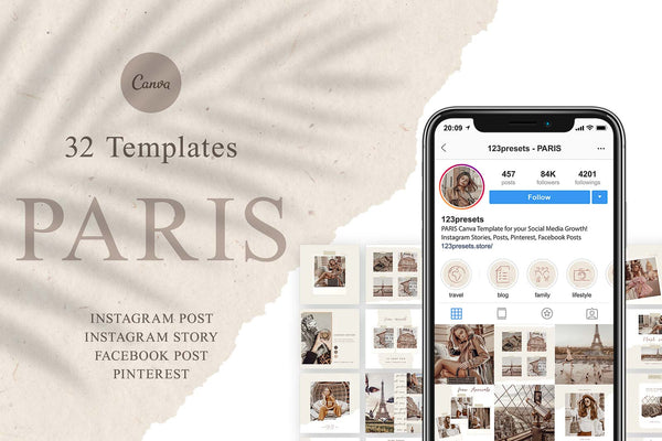 PARIS CANVA TEMPLATES