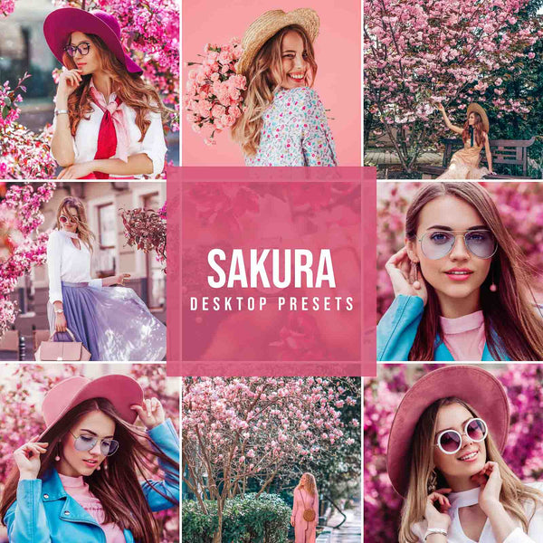 SAKURA DESKTOP LIGHTROOM PRESETS