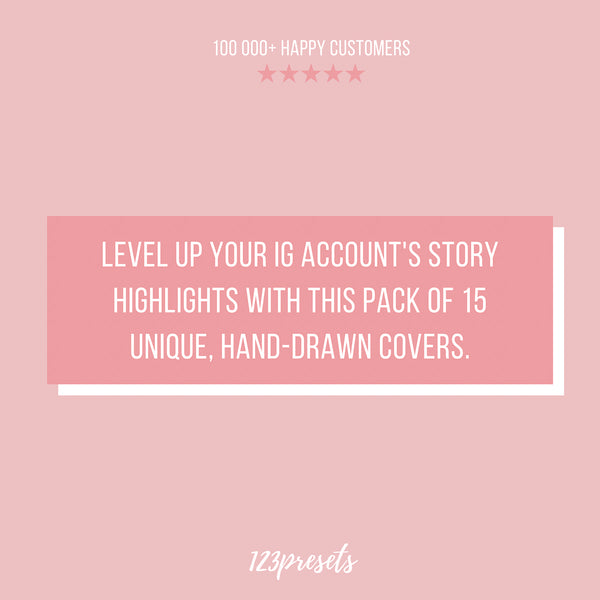 SOFT PINK IG HIGHLIGHT COVERS