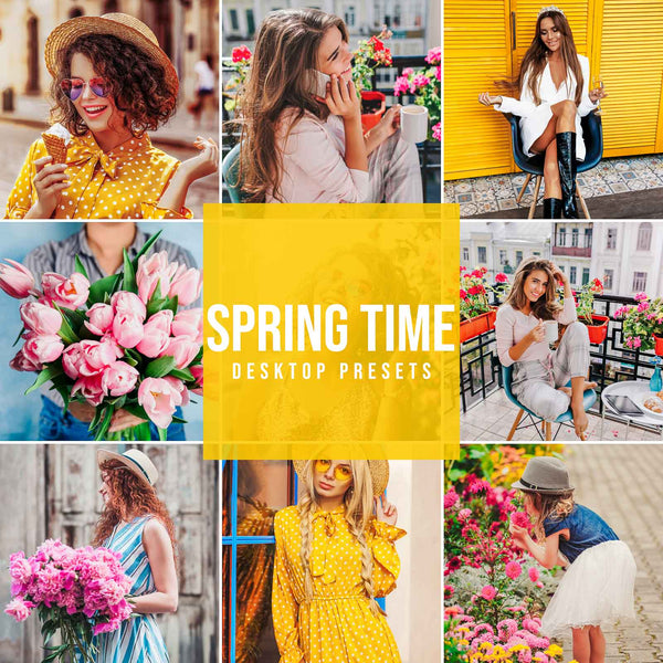 SPRING TIME DESKTOP LIGHTROOM PRESETS