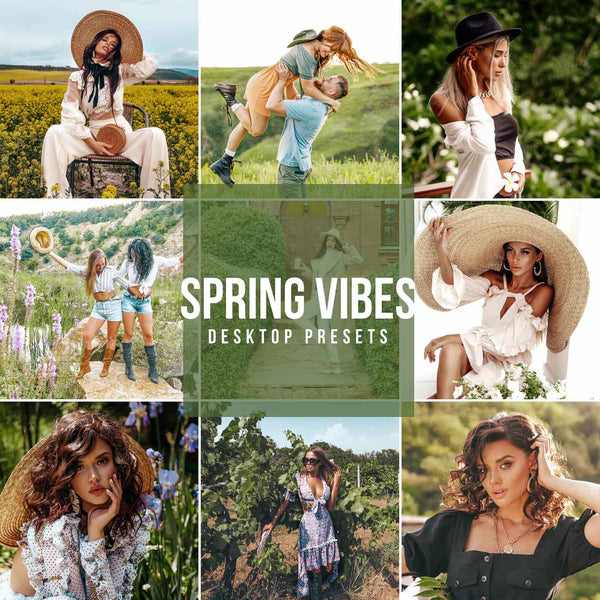 SPRING VIBES DESKTOP LIGHTROOM PRESETS