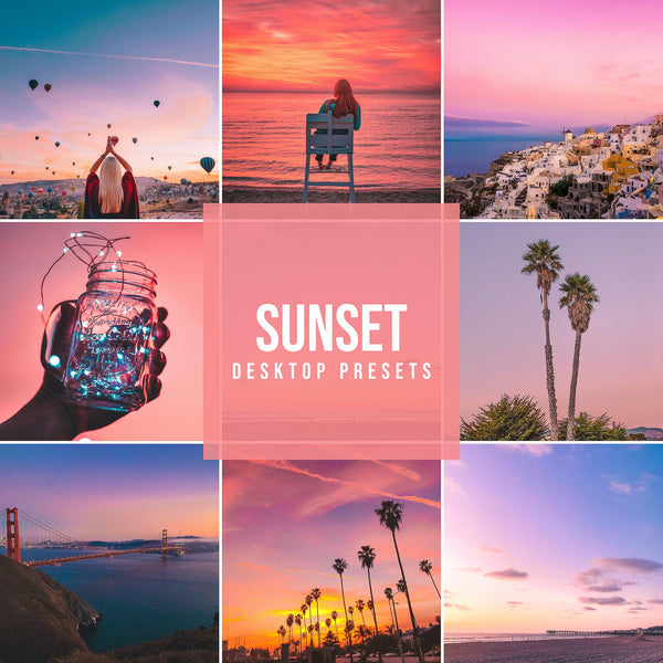 SUNSET SUNRISE DESKTOP LIGHTROOM PRESETS