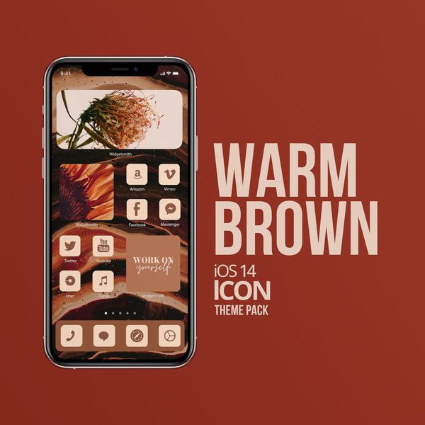 WARM BROWN iOS 14 ICONS