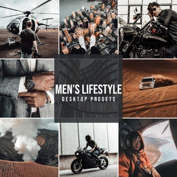 MEN'S LIFESTYLE DESKTOP LIGHTROOM PRESETS
