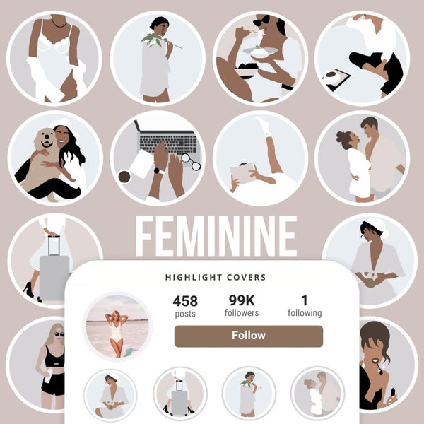 FEMININE IG HIGHLIGHT COVERS