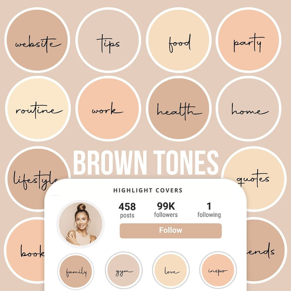 BROWN TONES IG HIGHLIGHT COVERS