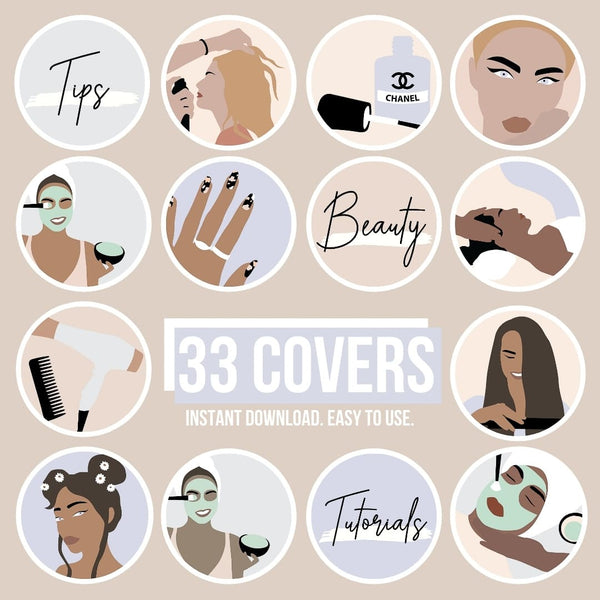 BEAUTY IG HIGHLIGHT COVERS