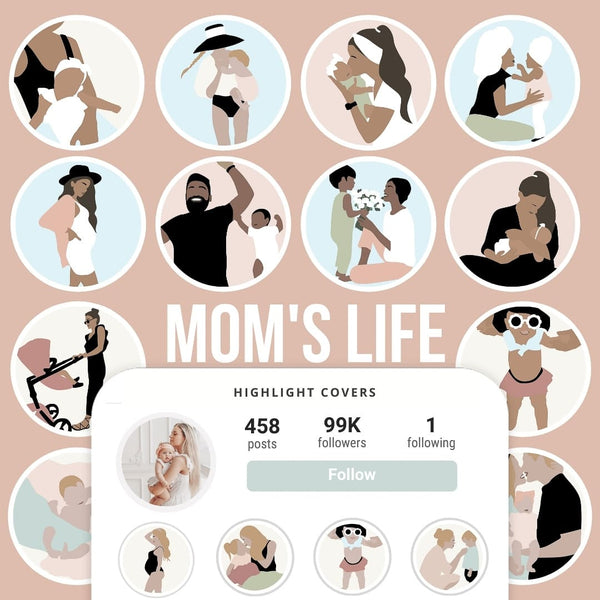 MOM'S LIFE IG HIGHLIGHT COVERS