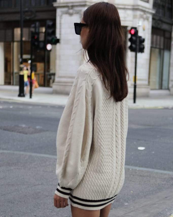 Knit jumper dress