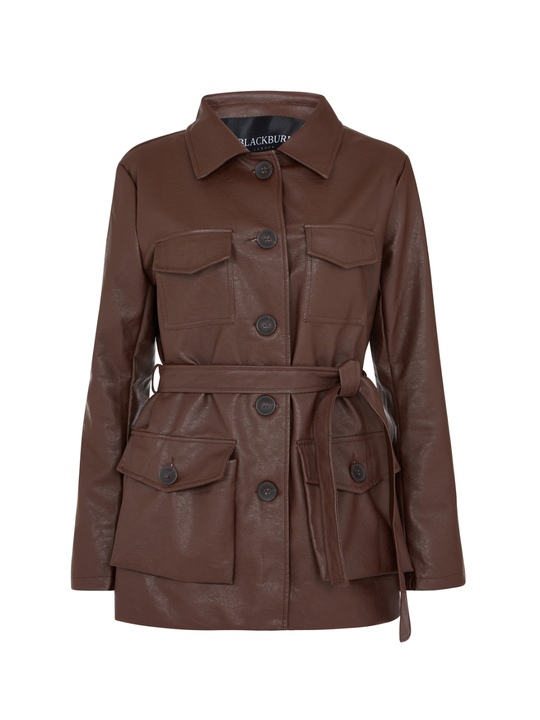 Brown Vegan Leather coat