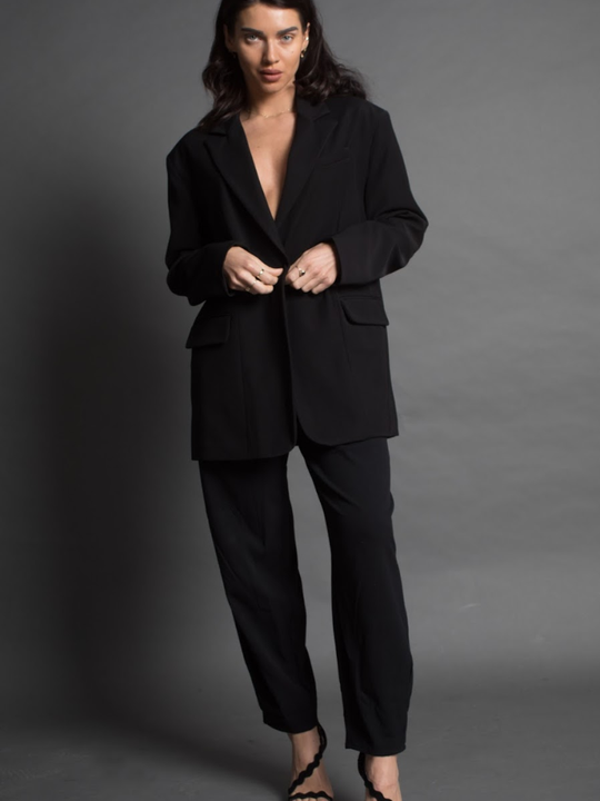 Black oversized suit