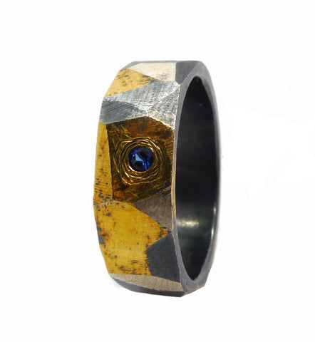 Triadic Ring with Gem