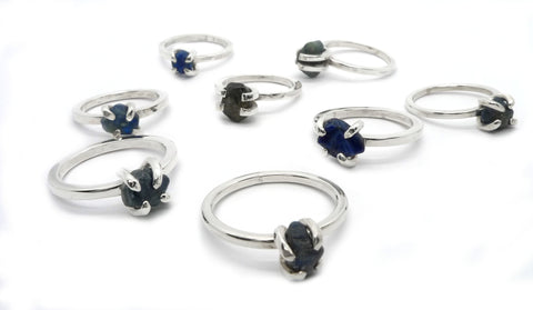 Rough Sapphire Rings