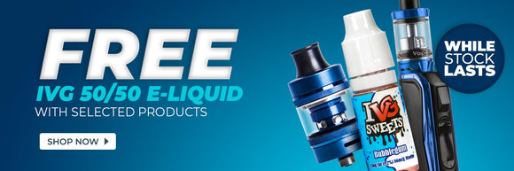 Free IVG E-Liquid with Selected Products