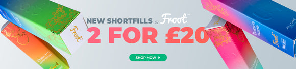 New Froot Shortfills - 2 for £20