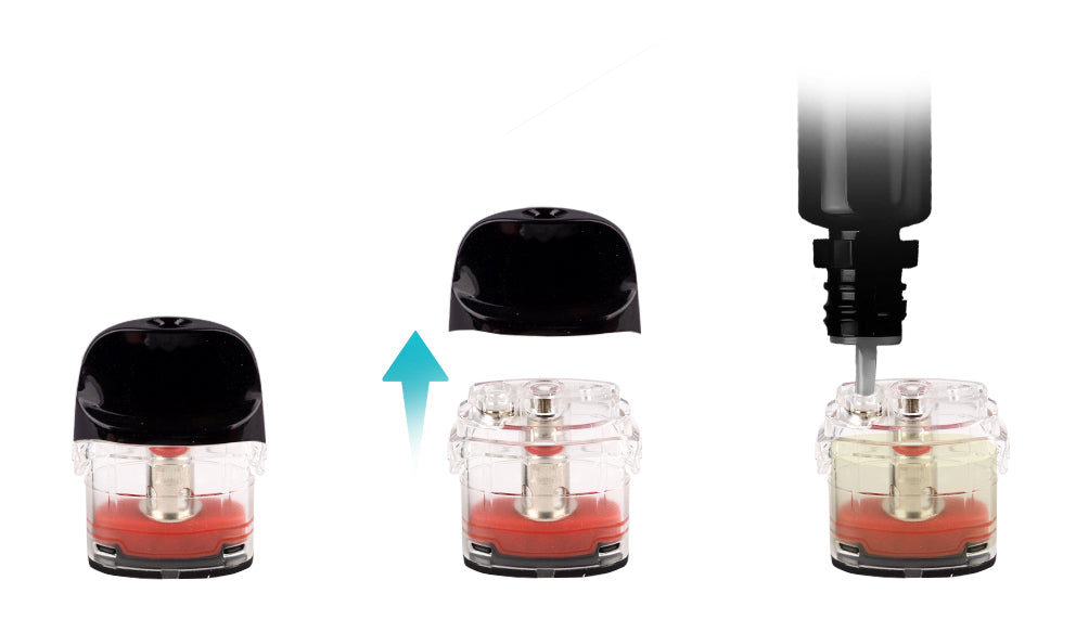How to fill the Vaporesso Luxe Q Pod Cartridges