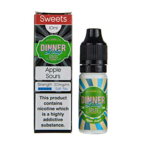 Apple Sours Nic Salt E-Liquid by Dinner Lady