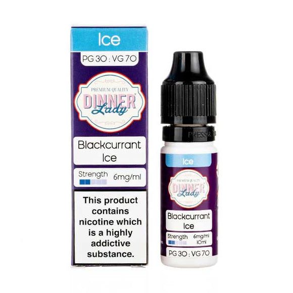 Blackcurrant Ice 70/30 E-Liquid by Dinner Lady