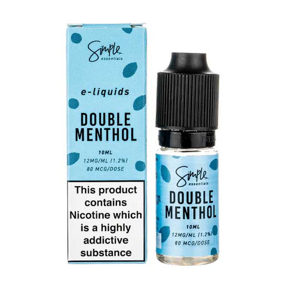 Double Menthol E-Liquid by Simple Essentials