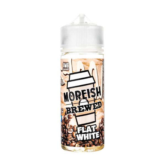 Flat White Brewed Shortfill E-Liquid by Moreish Puff