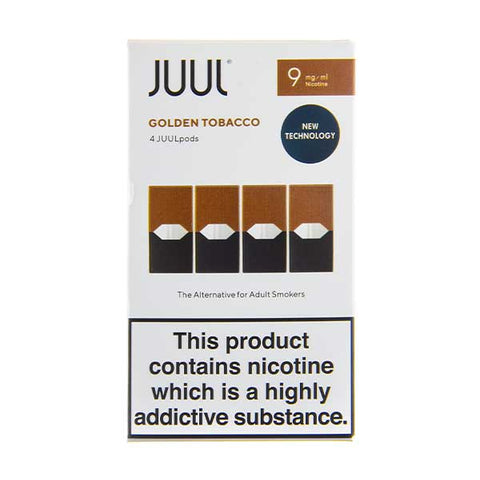 Golden Tobacco 9mg UK V2 Juul Pods