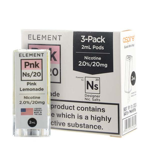 NS20 Pink Lemonade Gusto Pods by Element