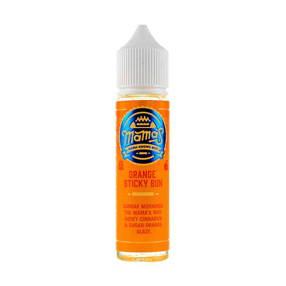 Orange Sticky Bun Shortfill E-Liquid by Mama's