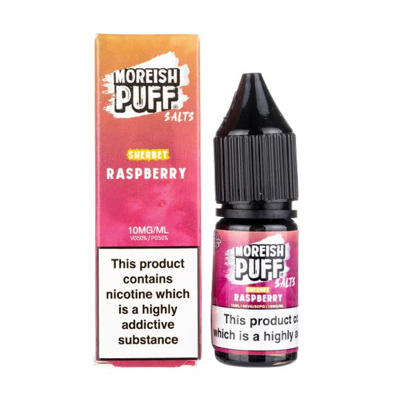 Raspberry Sherbet Nic Salt E-Liquid by Moreish Puff
