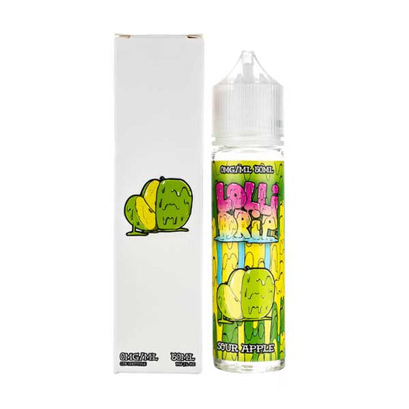 Sour Apple Shortfill E-Liquid by Lollidrip
